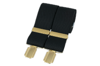 Dalaco BR-009 Plain Black 33mm Gold Clip Braces